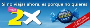 Ofertas 2 x 1 LAN Chile