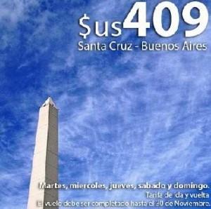 vuelos a buenos aires desde bolivia