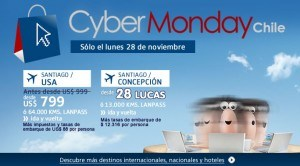 vuelos cybermonday chile